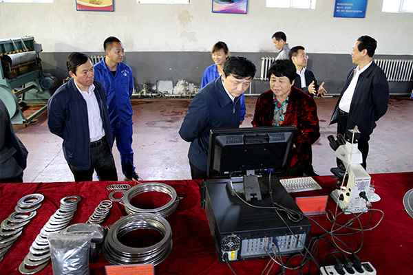 The president of Yang Tingshuang Hall of provincial science and technology hall and mayor Shao Guoqiang come to the development